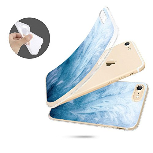 finoo | iPhone 8 Weiche flexible Silikon-Handy-Hülle | Transparente TPU Cover Schale mit Motiv | Tasche Case Etui mit Ultra Slim Rundum-schutz | Gameboy Frost Textur