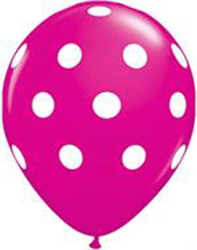Globos de colour marrón oscuro Colour rosa con lunares blancos 6 pcs, ca 30 cm de diámetro chimbomba globos
