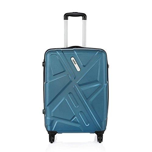 Safari Polycarbonate 65 cms Teal Hardsided Suitcase (TRAFFIK Anti-Scratch 4W 65 Teal)