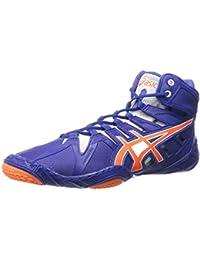 ASICS Zapato de lucha Omniflex-Attack 2 para hombre, azul verdadero / naranja impactante / blanco, 7,5 M de EE...