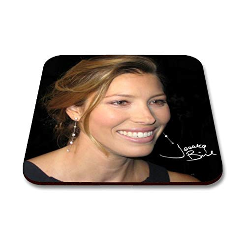 Star Prints UK Jessica Biel 1 Personalised Gift Drink Coaster Mat Autograph Print (No Personalised Message) (Jessica Ware)