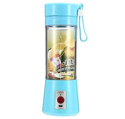 PANGUN 380Ml Portátil Jugo Eléctrico Licuadora Botella De Seguridad Exprimidor Copa Multifuncional-Azul