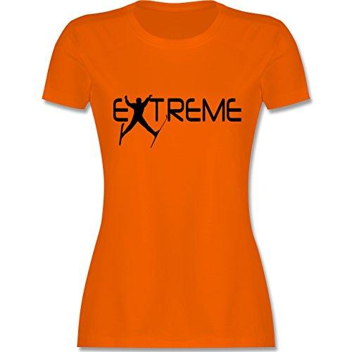 Wintersport - Ski Extreme - tailliertes Premium T-Shirt mit Rundhalsausschnitt für Damen Orange