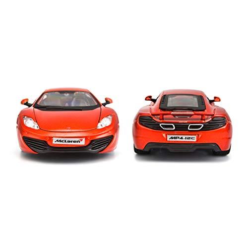 IVNGRI-Auto Model 1:24 druckguss McLaren MP4-12C Legierung Automodell Schiebetür Sound Und Licht Zurückziehen Spielzeugauto (Nissan Model Kit Auto)