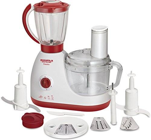 Maharaja Whiteline Fiesta Fp-103 600-watt Food Processor (white/majestic Maroon)
