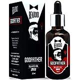 Beardo Godfather Lite Beard and Moustache Oil, 30 ml | Non-Sticky, Light Beard Oil for Men| Pleasant Fragrance | Ideal for da