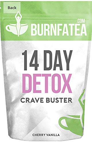 Burnfatea 14 Day Crave Buster detox, Cherry Vanilla -14 Pouches/Pack