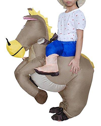 Aufblasbares Kostüm Kleidung Cosplay für Partei Karneval Fasching Erwachsene / Kinder Größe Optional Pferd S