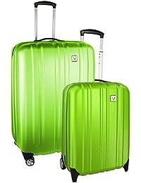 Roncato Trolley Juego de maletas, 70 liters, Verde (Lime)
