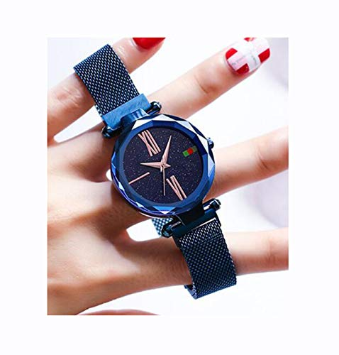 Hannah martin smael orologi da polso impermeabili magnetici elettronici per le donne,blued5greenlabel