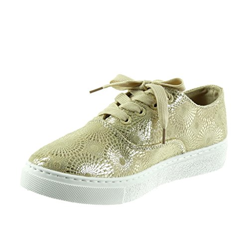 Sneakers beige per donna Angkorly