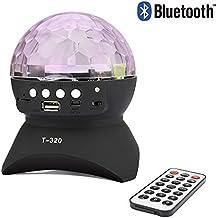 ALED LIGHT Luces de la etapa, luz giratoria de la bola del disco del efecto mágico con la ranura sin hilos de la tarjeta del mini altavoz de Bluetooth que gira para el disco del club del partido de Navidad de KTV