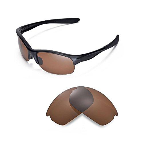 Walleva Ersatzgläser für Oakley Commit SQ Sonnenbrille - Mehrere Optionen (Braun - polarisiert)