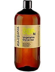 Naissance Pflanzliches Glycerin (Glyzerin/Glycerol) (Nr. 806) 1 Liter (1000ml) - flüssig, 100% Eur. Ph. Qualität & Lebensmittelqualität, vegan, natürlich, parfümfrei, gentechnikfrei.
