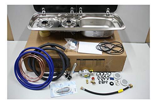 Smev 9222 Right-Hand Sink with Hob - Truma Regulator - Installation Kit