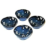 Namako Cherry Blossom Set of Four 3 1/2 Inch Japanese Soy Sauce/ Dipping Bowls by Japan