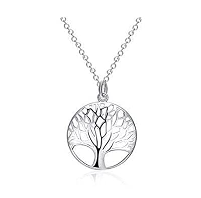 925 Sterling Silver Tree of life Pendant Necklace Chain
