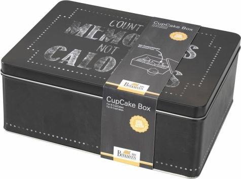 Birkmann 1010742310 Cupcake Box, Count The Memories, Kunststoff, Grau, 5 x 3 x 2 cm -