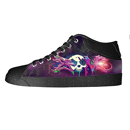 (Custom Graffiti Women's Canvas shoes Schuhe Lace-up High-top Footwear Sneakers)