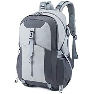 41xfbleHcFL. SS300  - Casual Backpack, Water Resistant Slim Lightweight Laptop Rucksack For Men/Women, Large Travel/Hiking/Cycling Daypacks With Earphone Hole, College/High School Bags For Boys/Girls -32L, Grey