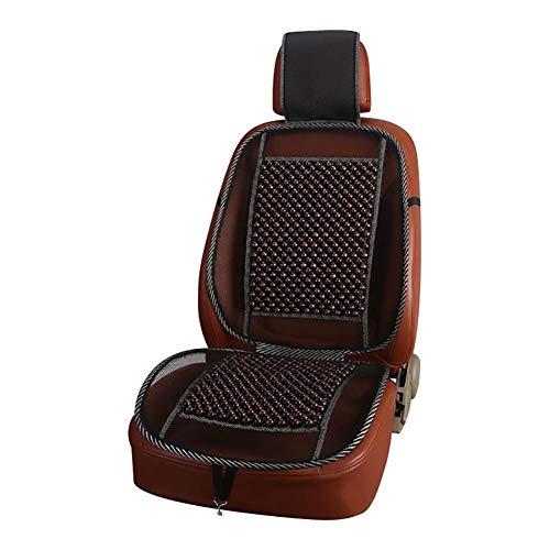 lembrd Autositzauflage Holzkugel-Sitzauflage Auto Holzkugeln Massage Holzperlen Sitzaufleger Universal Holzperlenaufleger Autositz- Atmungsaktive für alle Autositze mit Normaler Rückenlehne