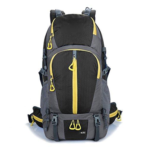 Bergsteigen Outdoor Sport Reisen Wasserdichter Multifunktionsrucksack,Black Black