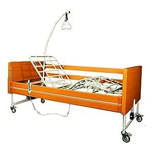 Smart Reha – Elektrisches Pflegebett ROSE Aufrichthilfe inkludiert.