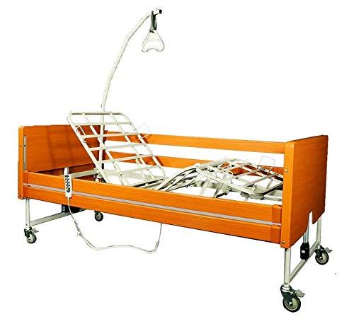 Smart Reha - Letto elettrico ortopedico per disabili, anziani e ammalati'Rose'. ASTA SOLLEVAMALATI INCLUSA!