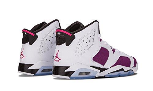 Nike Air Jordan 6 Retro Gg, Chaussures de Running Entrainement Fille WHITE/BRIGHT GRAPE/BLACK/VIVID PINK