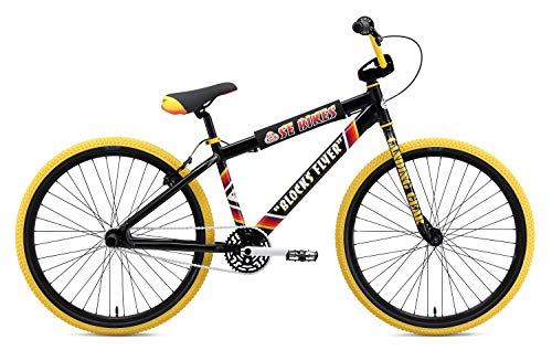 SE Bikes Blocks Flyer 26R BMX Bike 2019 Black (38 cm, Black)