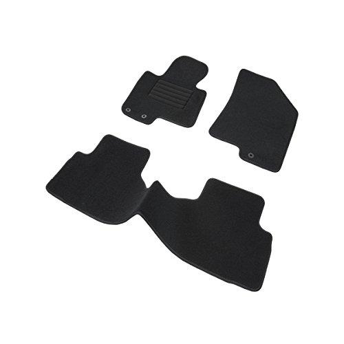DBS 1765701 Tapis Auto – Sur Mesure – Tapis de sol pour Voiture – 3 Pièces – Antidérapant – Moquette noir 900g/m² – Finition Velours – Gamme Star Achat