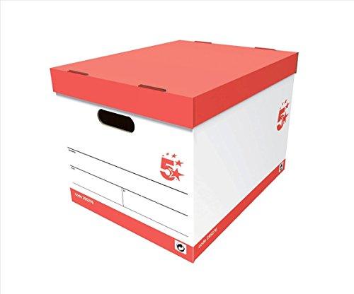 5 star Storage Box ETL-900125 - Paquete de 10 cajas de almacenaje, blanco
