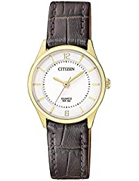 Citizen Analog Gold Dial Women's Watch - ER0203-00B
