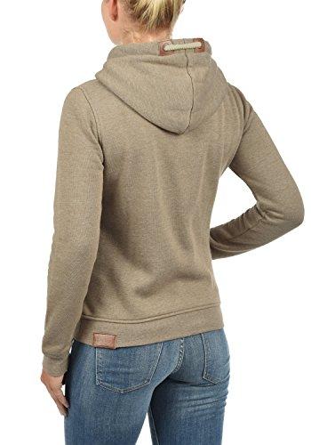 DESIRES Vicky Zip-Hood Damen Sweatjacke Kapuzenjacke Hoodie Mit Kapuze Fleece-Innenseite Und Cross-Over-Kragen, Größe:XS, Farbe:Sand Melange (8409) - 3