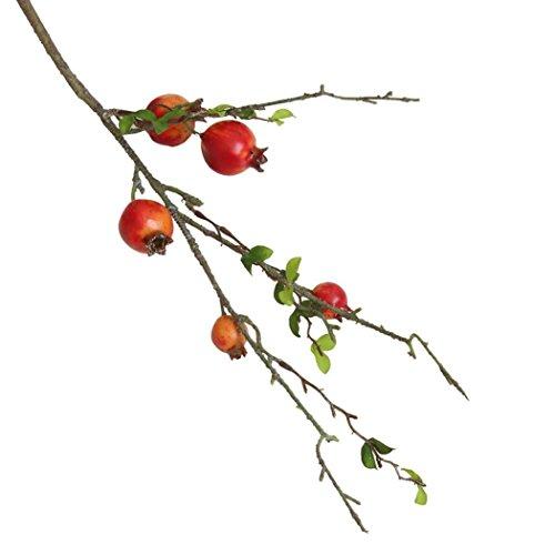 Künstliche Unechte Blumen,Trada Seide Kunststoff Künstliche Gefälschte künstliche Rose Fruit Granatapfel Beeren Bouquet Floral Garten Home Decor für Haus Garten Party Blumenschmuck (Wassermelonenrot)