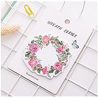 Huyizhi Creativo Nota adhesiva de guirnalda para cuaderno de motivos de notas de mensaje (Rosy) para sus suministros officce