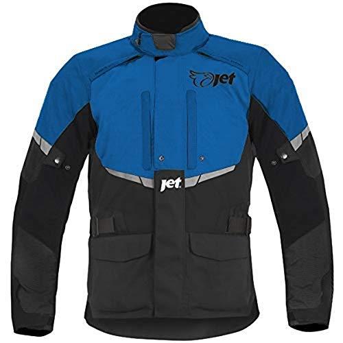 19dd31b39c8 JET Blouson Veste Moto Homme Imperméable Avec Armure Textile Tourer (Bleu