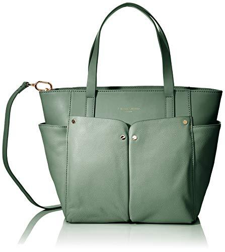 Liebeskind Berlin Damen Shopper M Duo Schultertasche, Grün (Hedge Green), One Size -