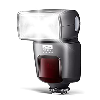 Metz mecablitz 52 AF-1 für Canon Kameras (DSLR und CSC)   Top Blitzgerät mit E-TTL, Leitzahl 52, HSS (High Speed Sync), Touch-Display etc.