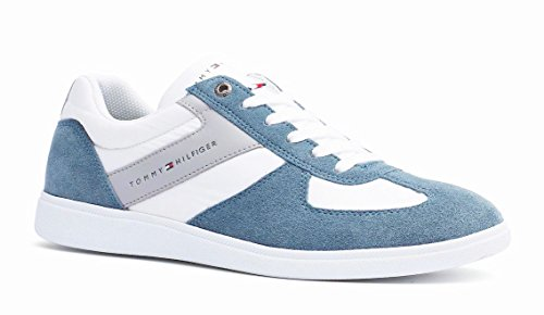 Men Sneakers Pelle Tommy Blu Hilfiger Misto In xzxqwavpF