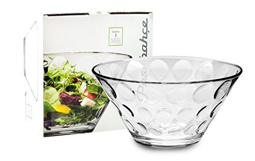 Saladier en verre transparent - 26 cm