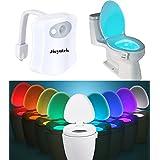 Le WC LED lumière de nuit, jieyutek TL01Capteur de mouvement, 8couleurs changeantes toilettes lumière sort