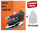 Best Silver Star 1000W 220V Industrial Electric Steam Iron ES-3 with 4.0 L.Water Tank with Steam-Press Teflon Shoes