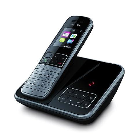 Telekom Sinus A606 Schnurlostelefon mit Anrufbeantworter graphit