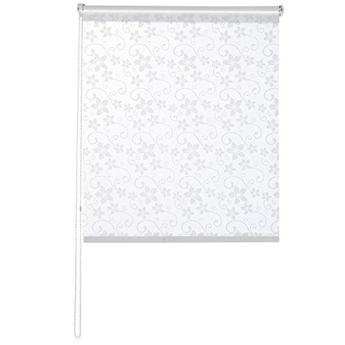 casa pura® Fashion Rollo Blossom | blickdicht & lichtdurchlässig | Klemmrollo für Fenster, auch ohne Bohren anbringbar | 9 Größen