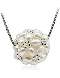 6b5b2bb48c65 Collar para mujer de plata de Ritzo by con un colgante de bola de nieve de