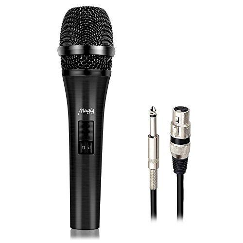 Mugig Micrófono Dinámico de Mano Profesional Bobina Móvil para el Karaoke Escenario...