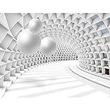 Fototapete 3D - Kugel Weiß 396 x 280 cm Vlies Wand Tapete Wohnzimmer Schlafzimmer Büro Flur Dekoration Wandbilder XXL Moderne Wanddeko - 100% MADE IN GERMANY - Runa Tapeten 9223012c