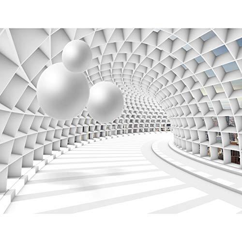 Fototapeten 3D - Kugel Weiß 352 x 250 cm Vlies Wand Tapete Wohnzimmer Schlafzimmer Büro Flur Dekoration Wandbilder XXL Moderne Wanddeko - 100{d603ba9ef938ae82543a3ad5285c1797fe8727d00d712851354e0af48c05a26d} MADE IN GERMANY - Runa Tapeten 9223011c