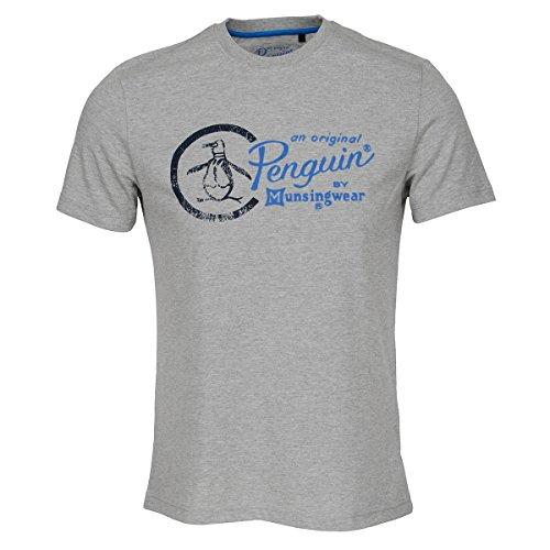Original Penguin Herren T-Shirt Rain Heather